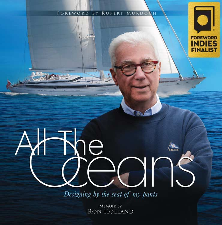 All The Oceans Book Cover of Ron Holland's memoir Foreword Reviews 2018 INDIE Finalist